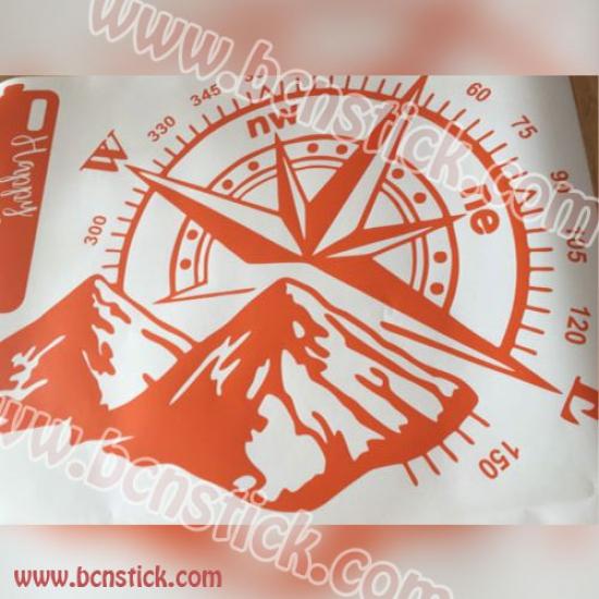 Rosa de vinto con montaña 60x40cm