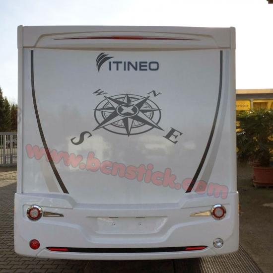 Rosa de viento para caravana 145x60cm
