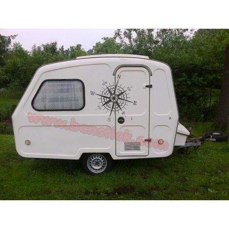 Rosa de viento 60x60cm Caravana