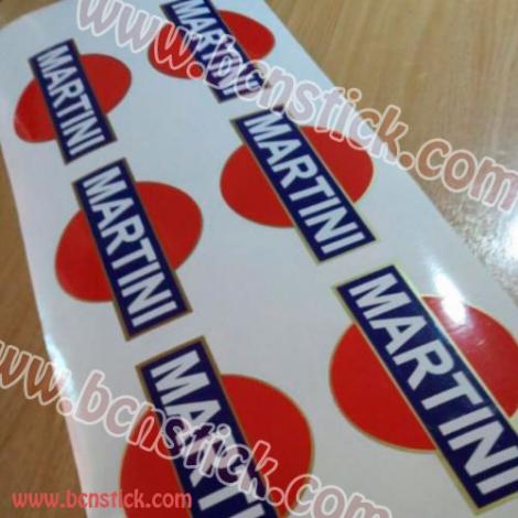 Logo de Vespa Martini 25x8cm