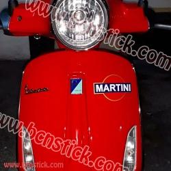 4 logos de Martini 16x10cm