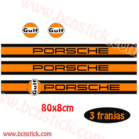Kit pegatinas Vespa Porsche Gulf