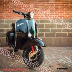 Kit 3x vinilos Italiano Bandera scooter moto Vespa 200 px pk tx iris primavera