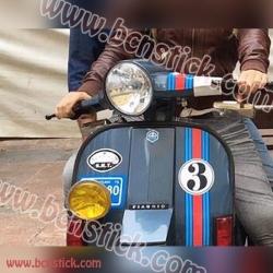 Pegatina vinilo Martini Racing Scooter moto scooter Vespa Piaggio