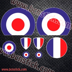 Kit de pegatinas Vespa bandera Francesa