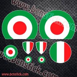 Kit de pegatinas Vespa bandera de Italia