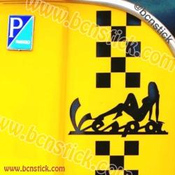 Kit de vinilo Vespa cuadros (Piaggio) px, primavera, pk, tx,iris,200