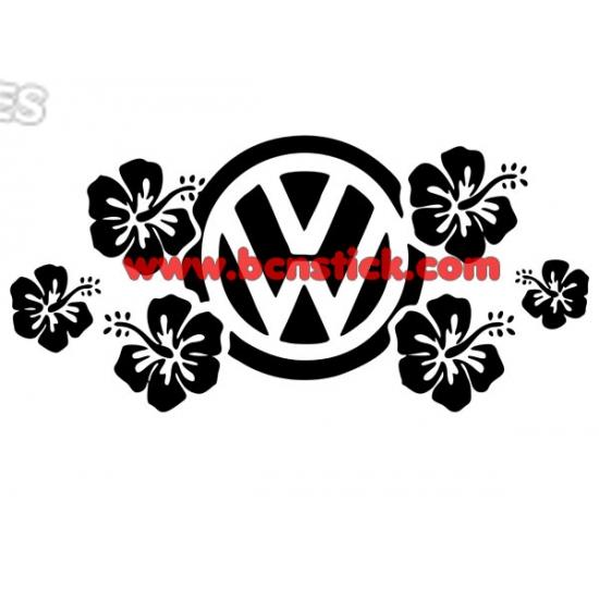 Adorno floral Volkswagen 58x28cm